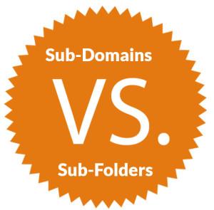 Sub Folders vs Sub Domains Study