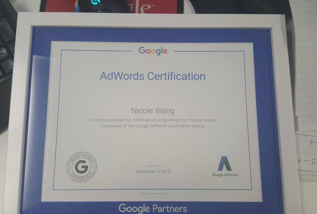 100% of Our Team are Google Adwords Certified – Including ...