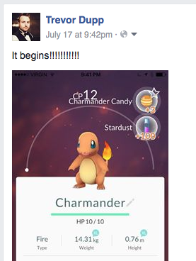 Our Creative Director, clearly made the right choice with Charmander.